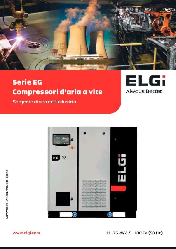 ELGI COMPRESSORI SERIE EG GLOBAL 11 – 75 KW