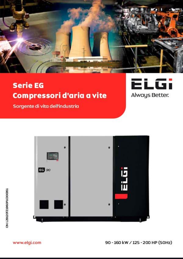 ELGI COMPRESSORI SERIE EG GLOBAL 90 – 160 KW