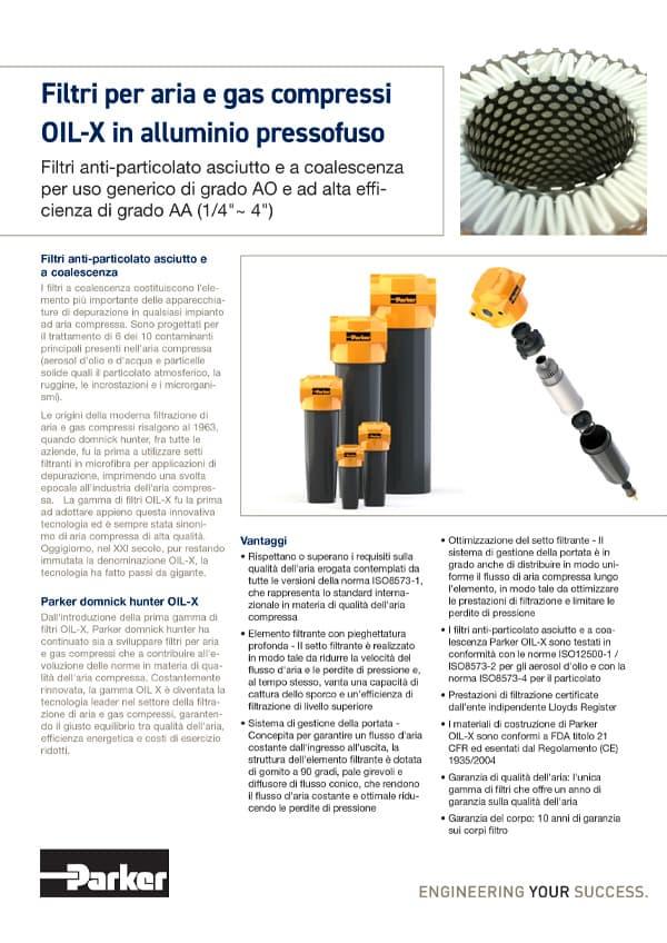 Filtri anti particolato asciutto e a coalescenza